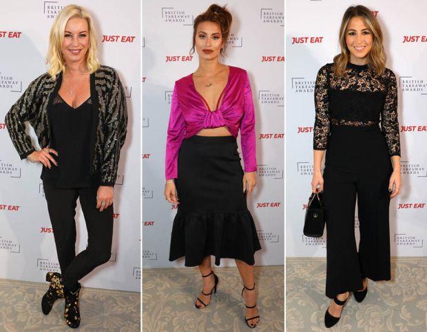 Denise Van Outen, Ferne McCann and Rachel Stevens attend the British Takeaway Awards