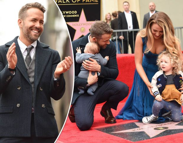 Ryan Reynolds and wife Blake Lively make first family appearance at Hollywood star unveil
