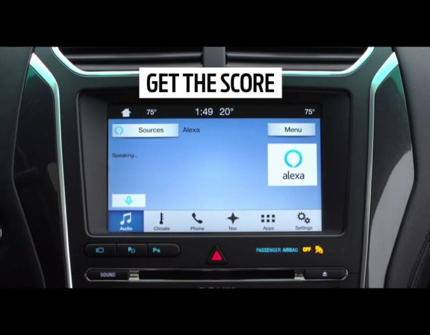 Amazon Alexa personal assistant in Ford car