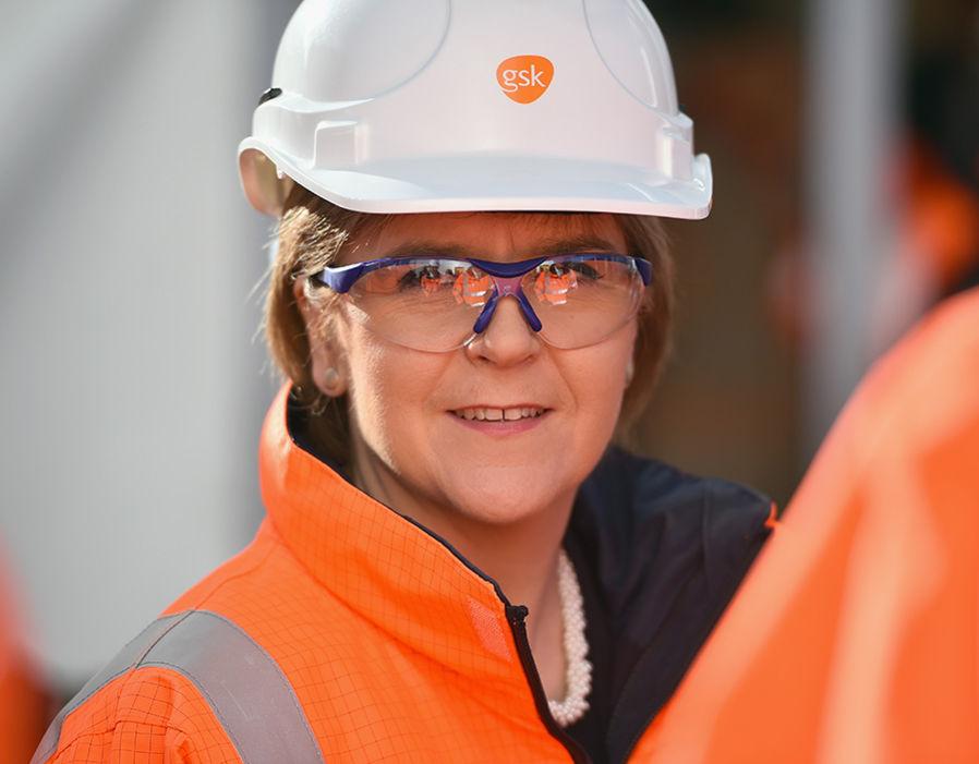 Nicola Sturgeon Opens Multi-million Pound Extension At GlaxoSmithKline
