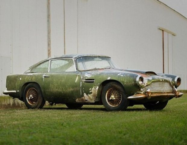 The abandoned Aston Martin DB4
