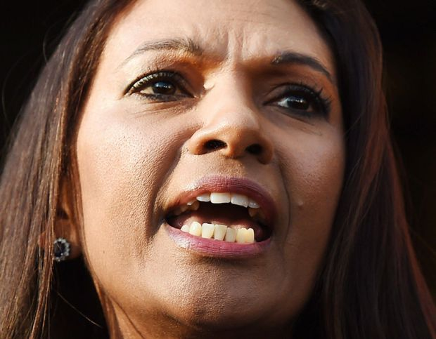 Lead claimant in the Article 50 case, Gina Miller delivers a statement outside the Supreme Court in London
