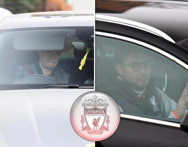 Liverpool arrive Melwood