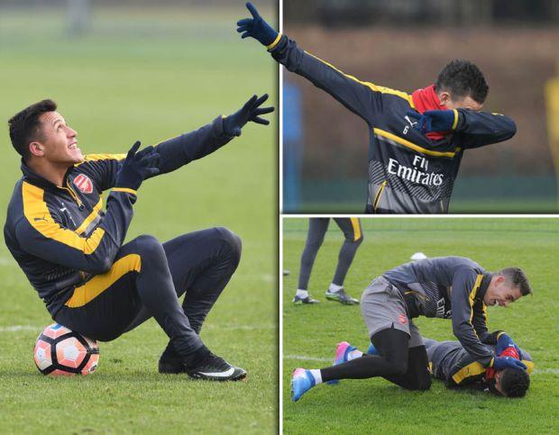 Arsenal-Southampton-training-FA-Cup