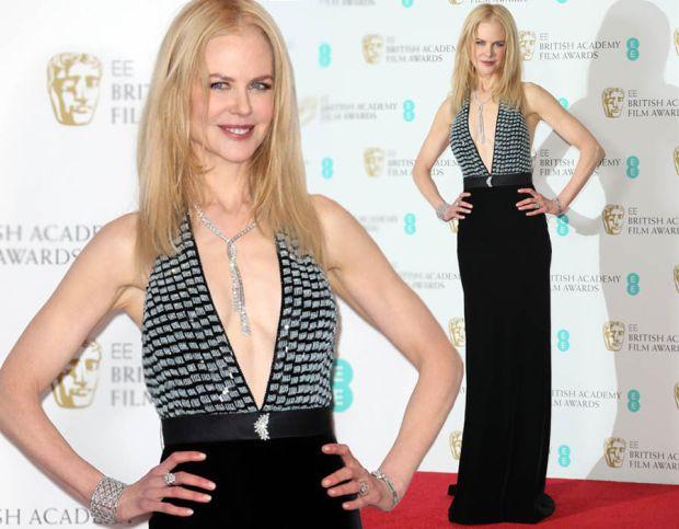 Nicole Kidman dazzles in plunging gown BAFTAs