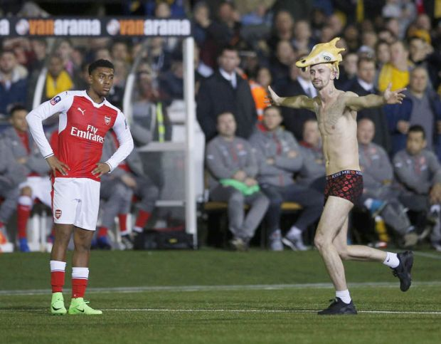 Sutton United pitch invader Arsenal