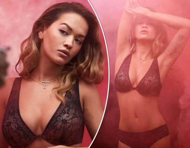 Rita Ora oozes sex appeal as she shows off serious cleavage in racy lingerie shoot