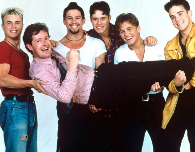 Piers Morgan with Take That in 1992