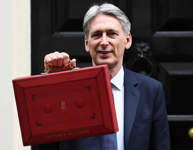 Mr Hammond says he is 'building the foundations of a stronger, fairer, more global Britain'