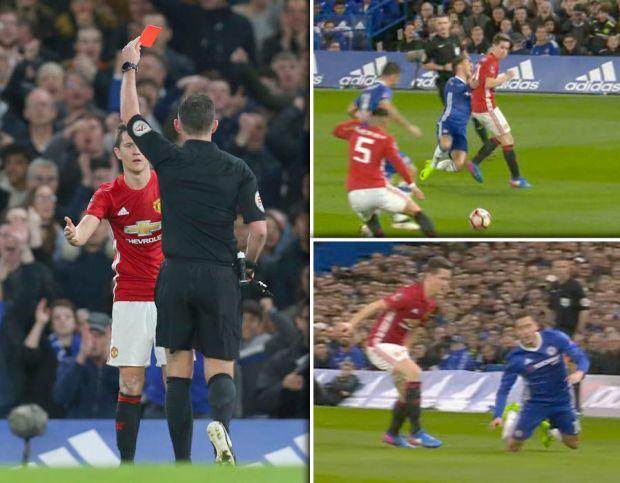 Ander-Herrera-red-card-Eden-Hazard-Man-United