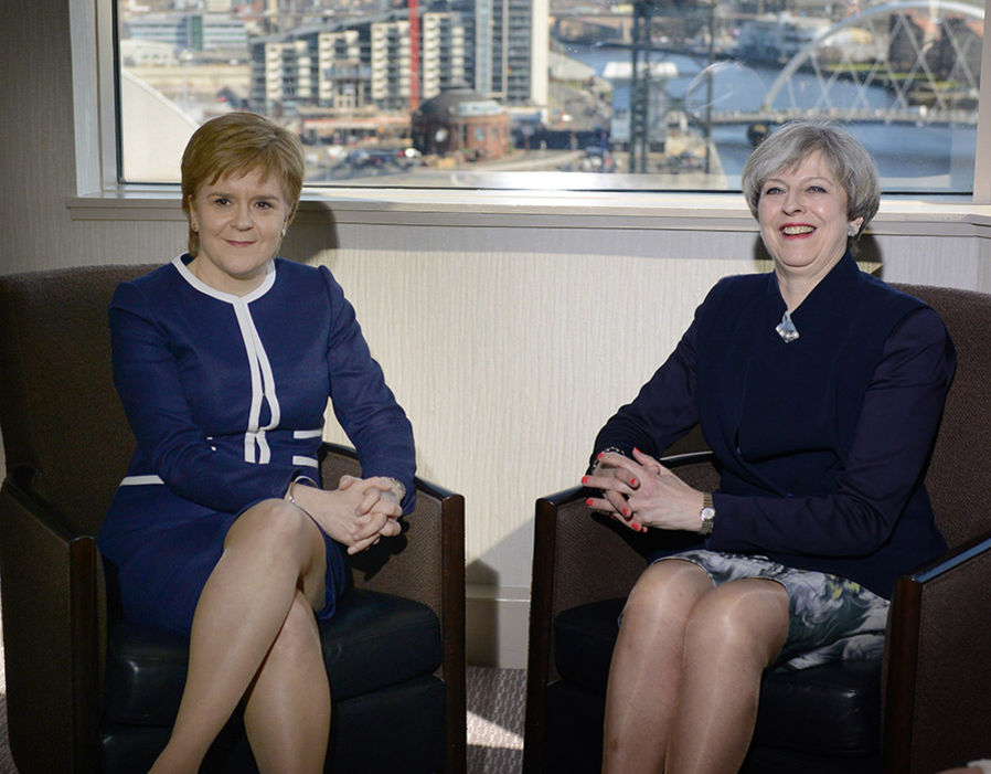 British Prime Minister Theresa May meets Scottish First Minister Nicola Sturgeon in Glasgow, following the announcement that Scotland is to hold a second Independence Referendum  Theresa May brings in 'double lock' on any future Scotland independence ballot | Politics | News 229014