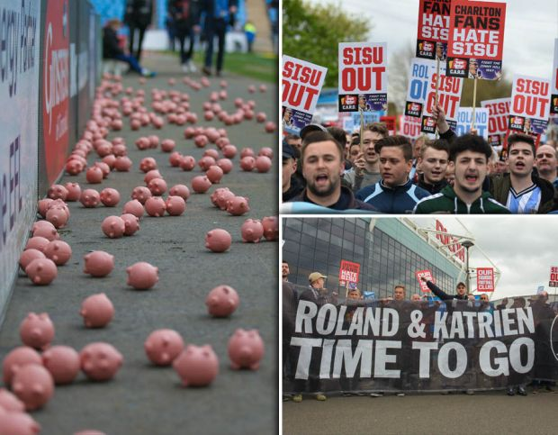 Coventry-City-Charlton-Athletic-pig-protest