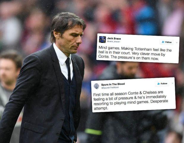 Antonio-Conte-mind-games-Chelsea-Tottenham-Twitter