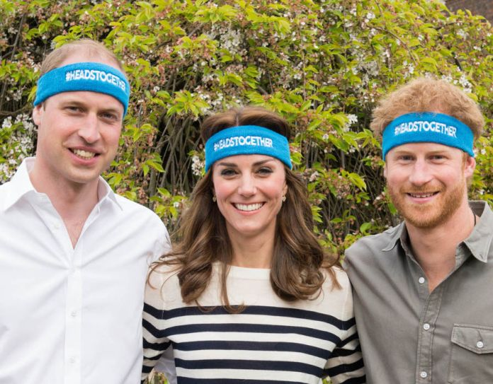 Duke Duchess of Cambridge Prince Harry Heads Together