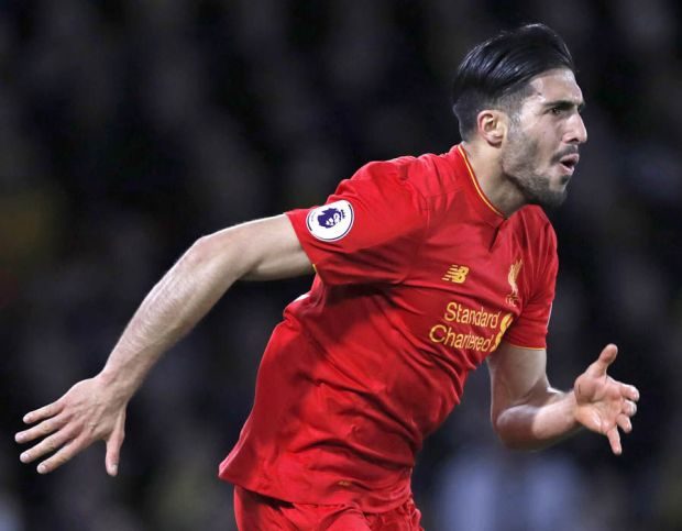 Emre Can goal Liverpool Watford
