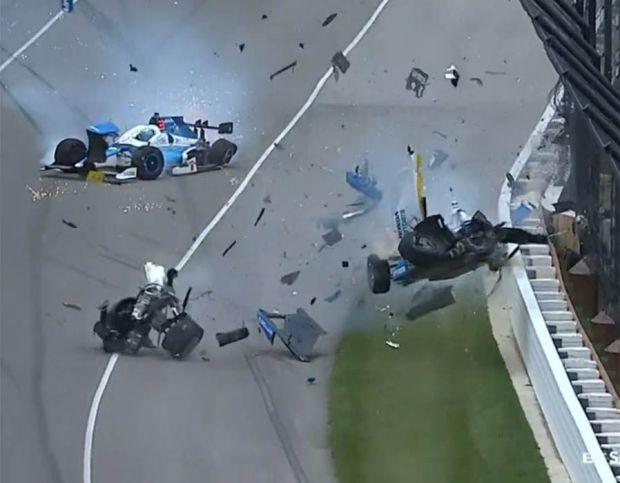 Scott Dixon Jay Howard Indy 500 crash