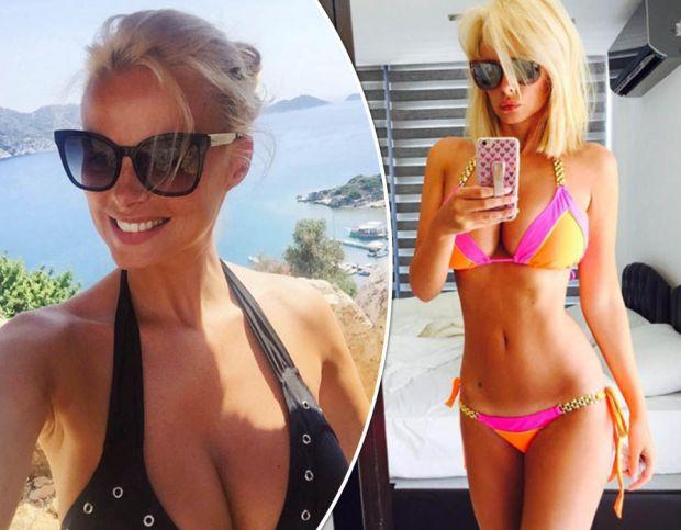 Rhian Sugden flaunts maximum cleavage as she strips down for racy selfie