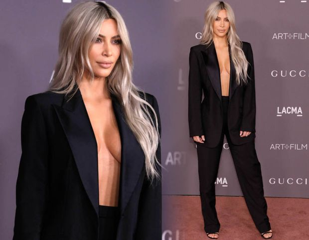 Kim Kardashian ditches bra at LACMA Gala