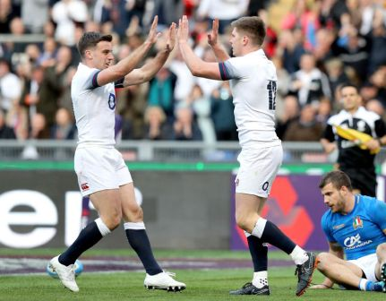 Image result for george ford and owen farrell vs italy