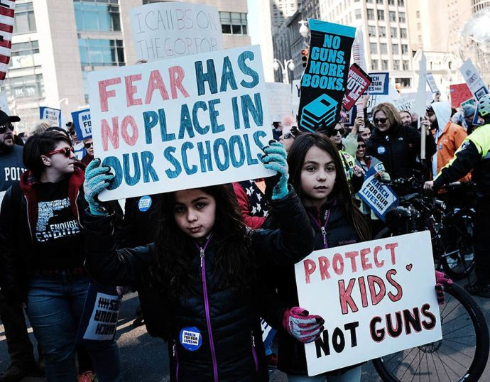 More than 800 March for Our Lives events, organized by survivors of filming Parkland School, Florida
