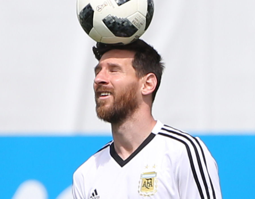 Lionel Messi enjoyed Argentina training on his birthday