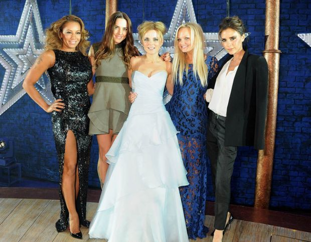 The Spice Girls at the Viva Forever press launch in 2012