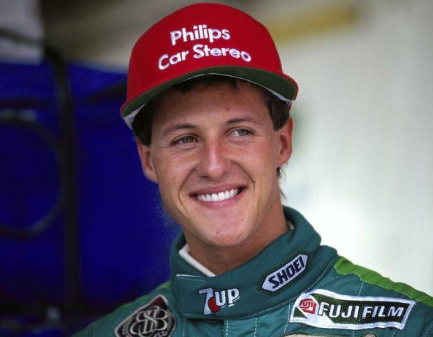 Michael Schumacher at the Belgium Grand Prix in 1991
