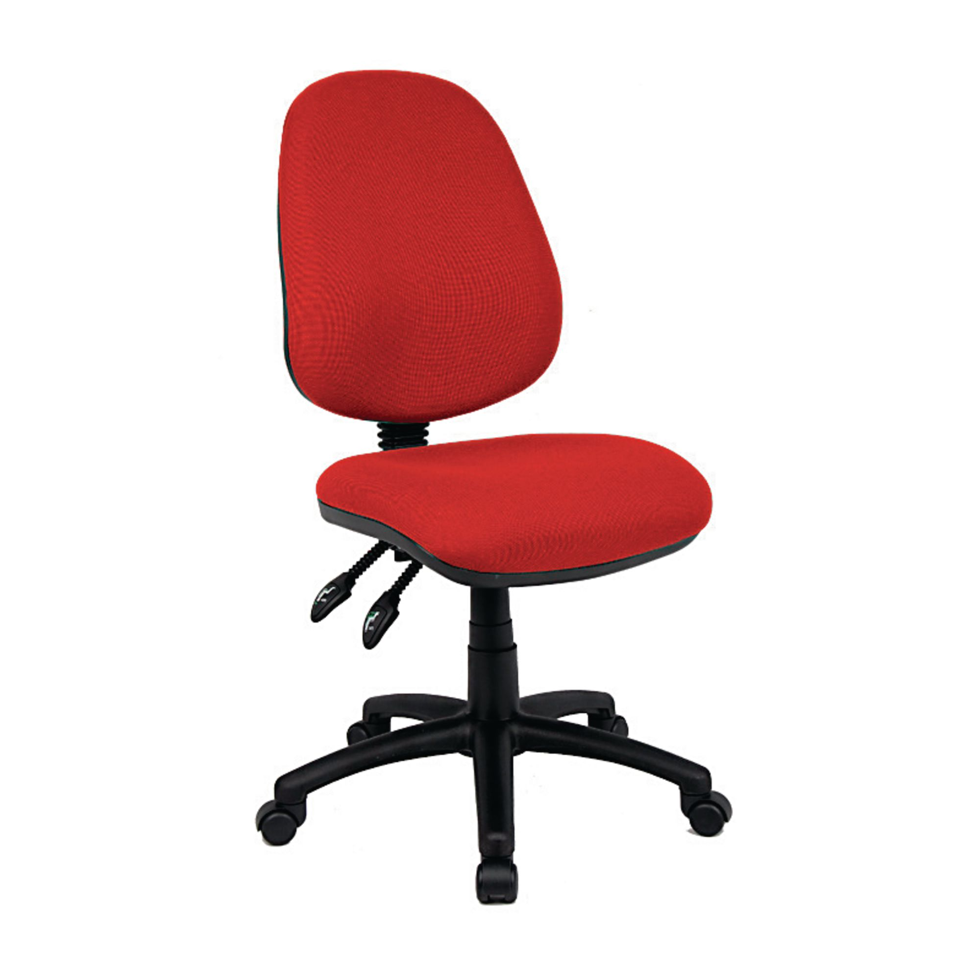 ergonomic chair levers best office for bad back operator no arms red hope education