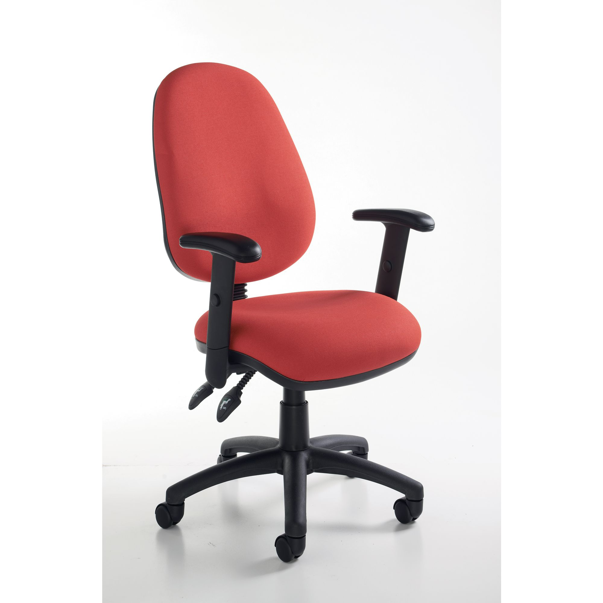 How To Adjust Office Chair Vantage 3 Lever Adjust Arms Chair Red