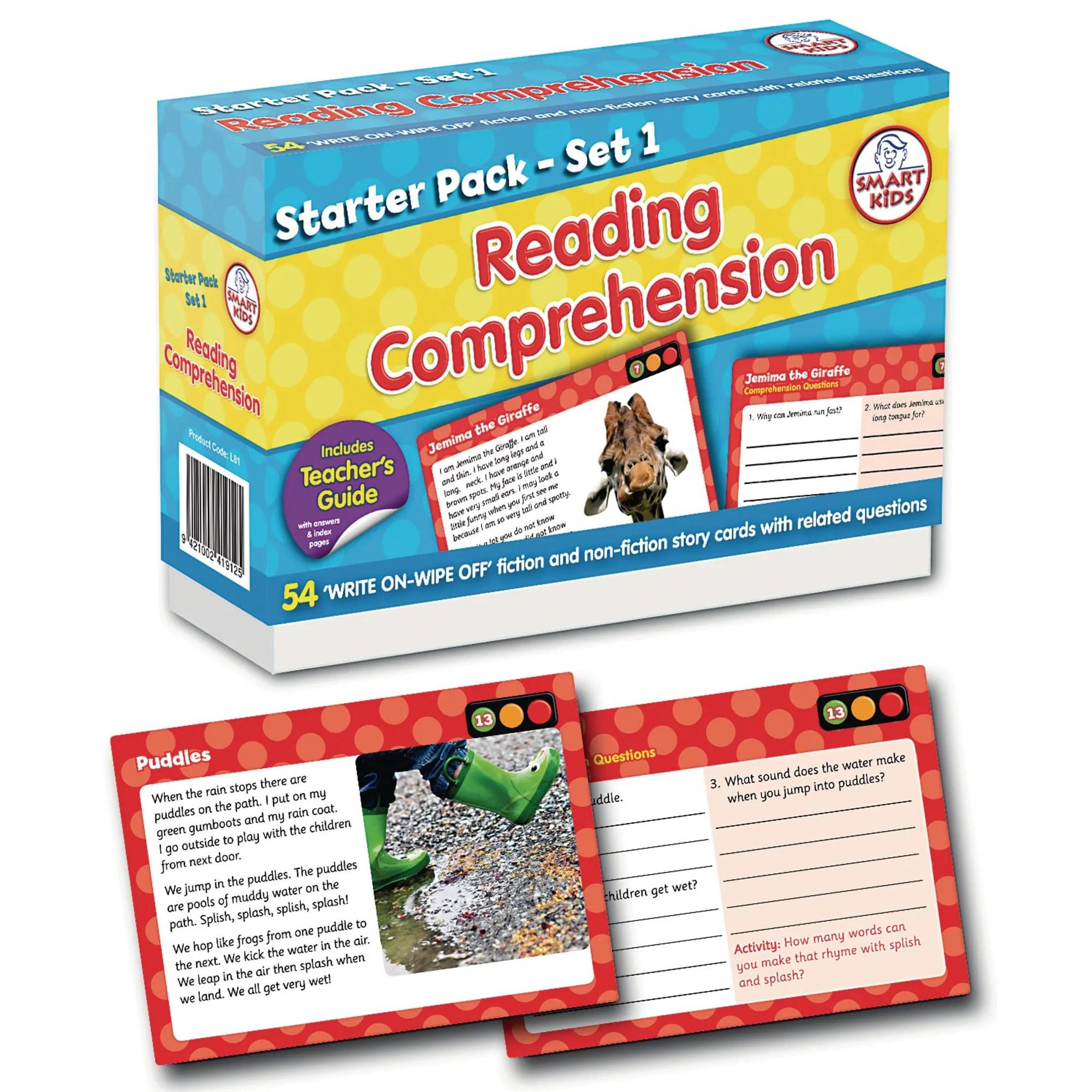 Reading Comprehension Starter Pack Set 1
