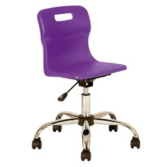 Purple Swivel Chair Zero Gravity Leather Canada Product Findel International Titan Chairs Junior Castors