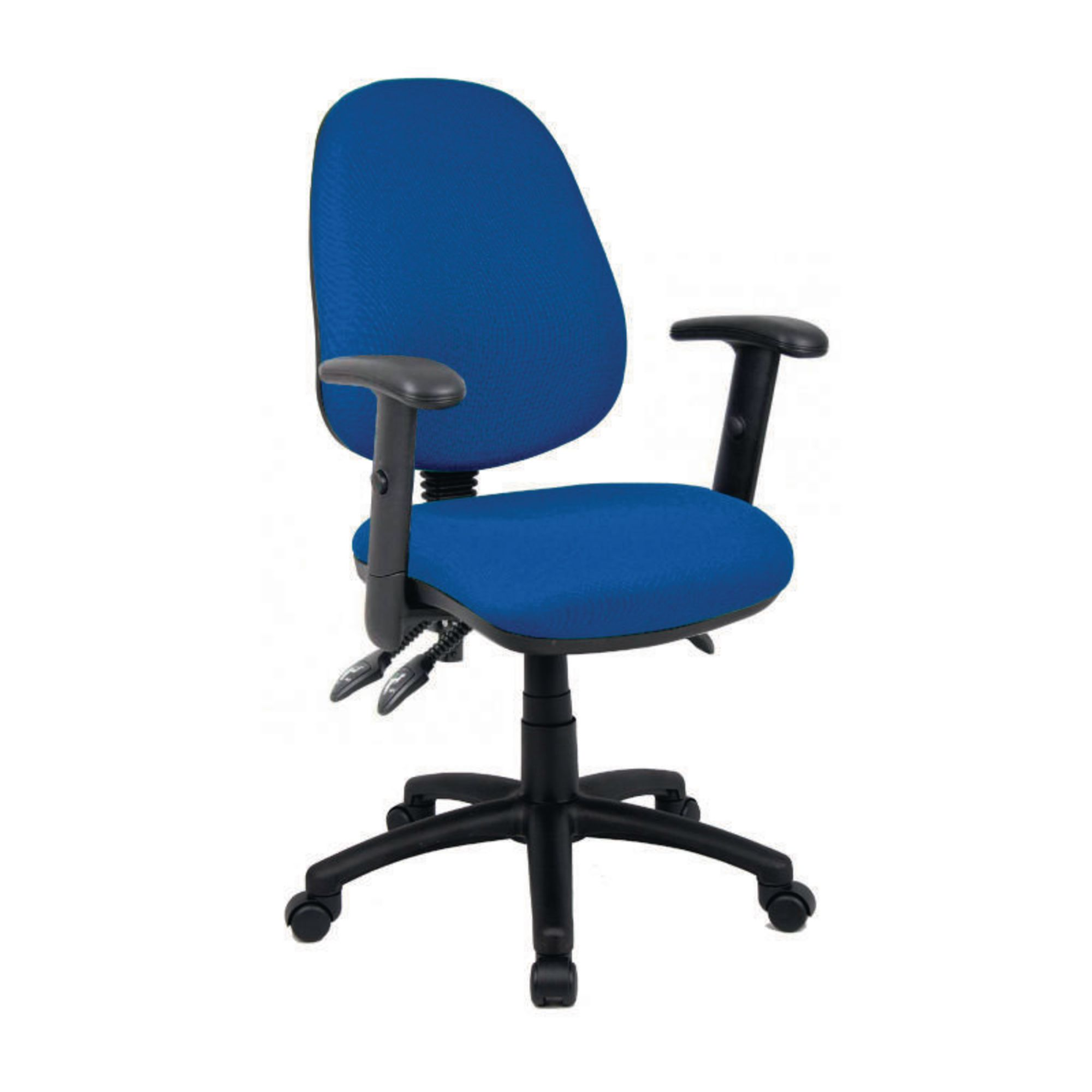 office chair ballet rail with beadboard vantage 3 lever adjust arms blue gls educational