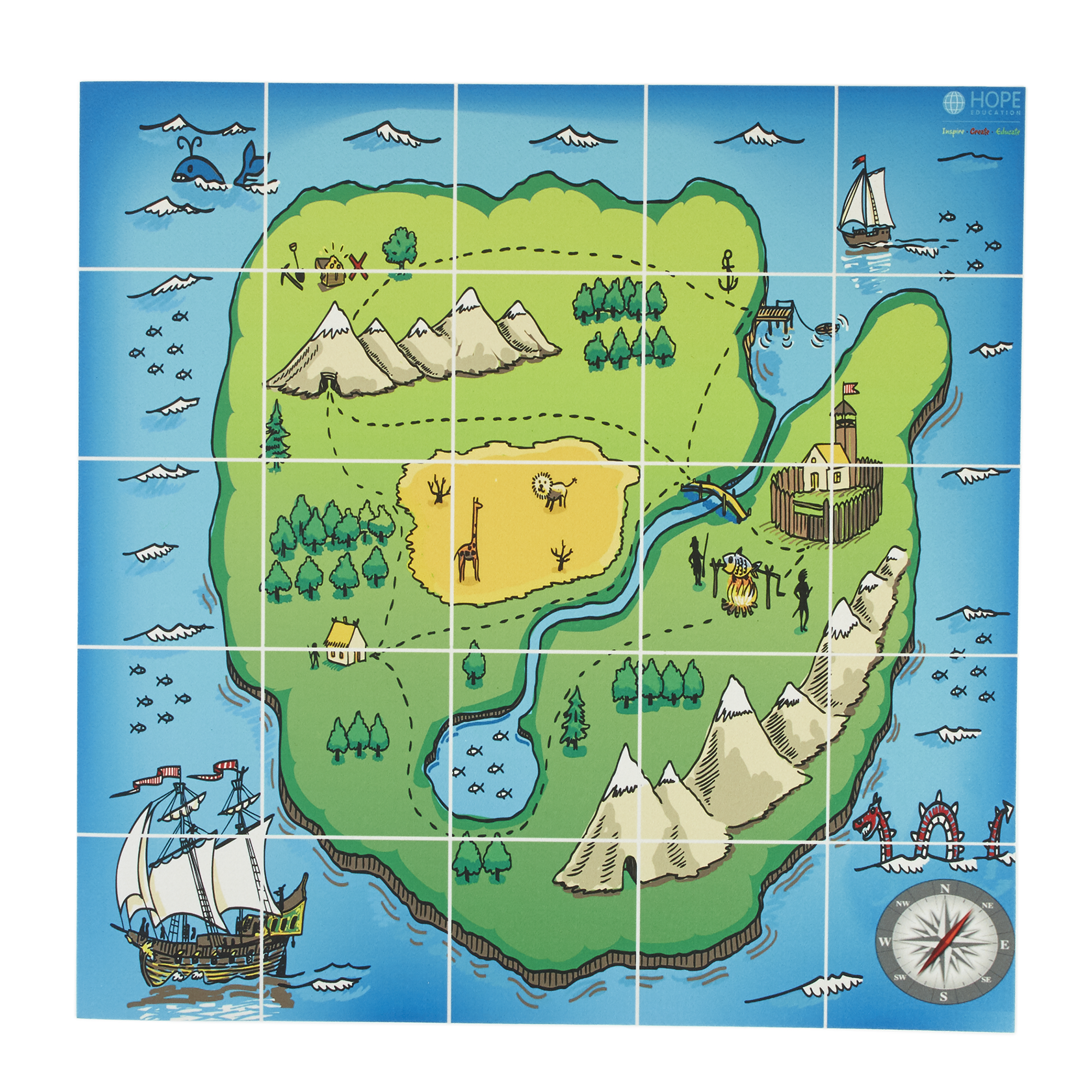 E A R L Treasure Island Map Mat From Hope Education