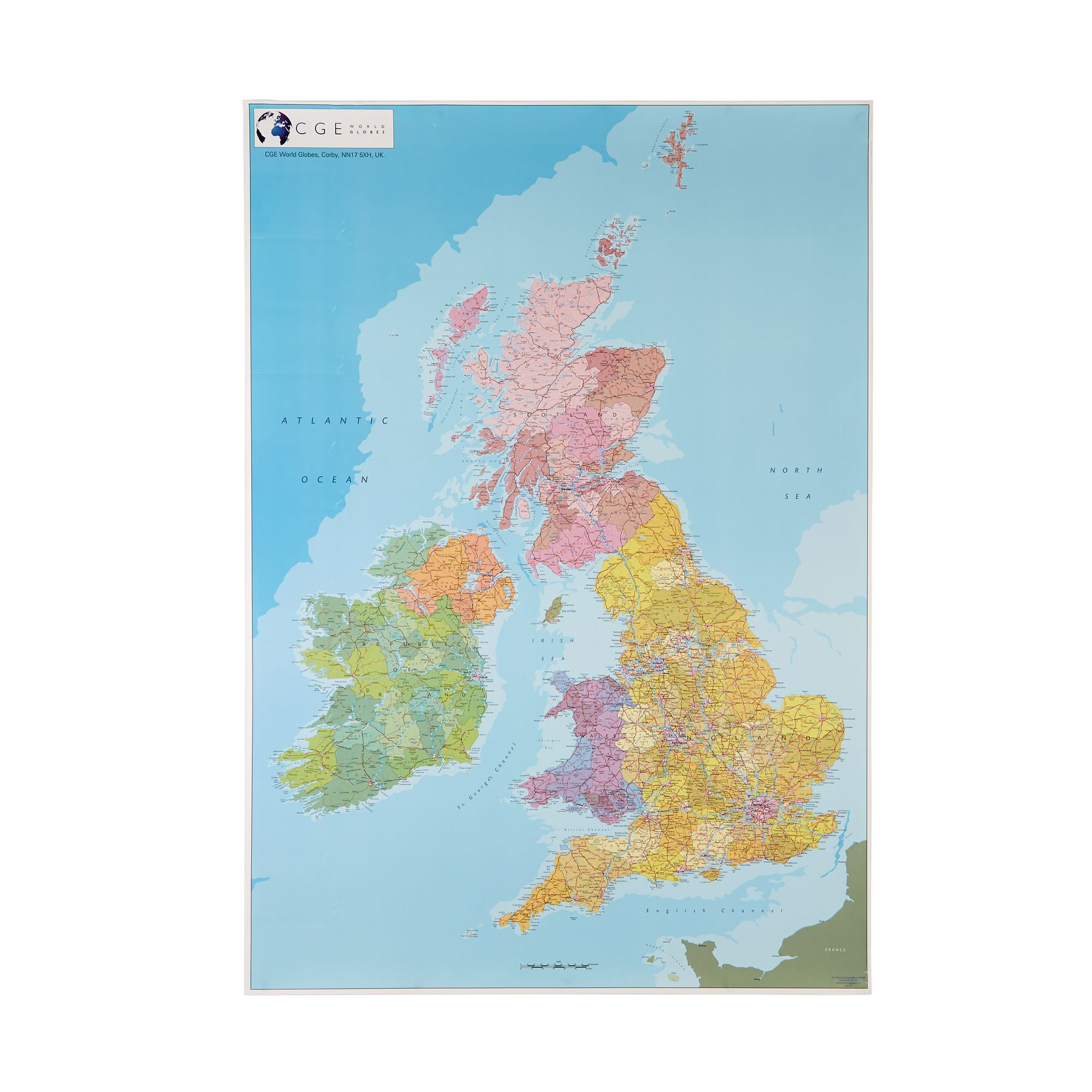 Political Map Of The British Isles Pack 5