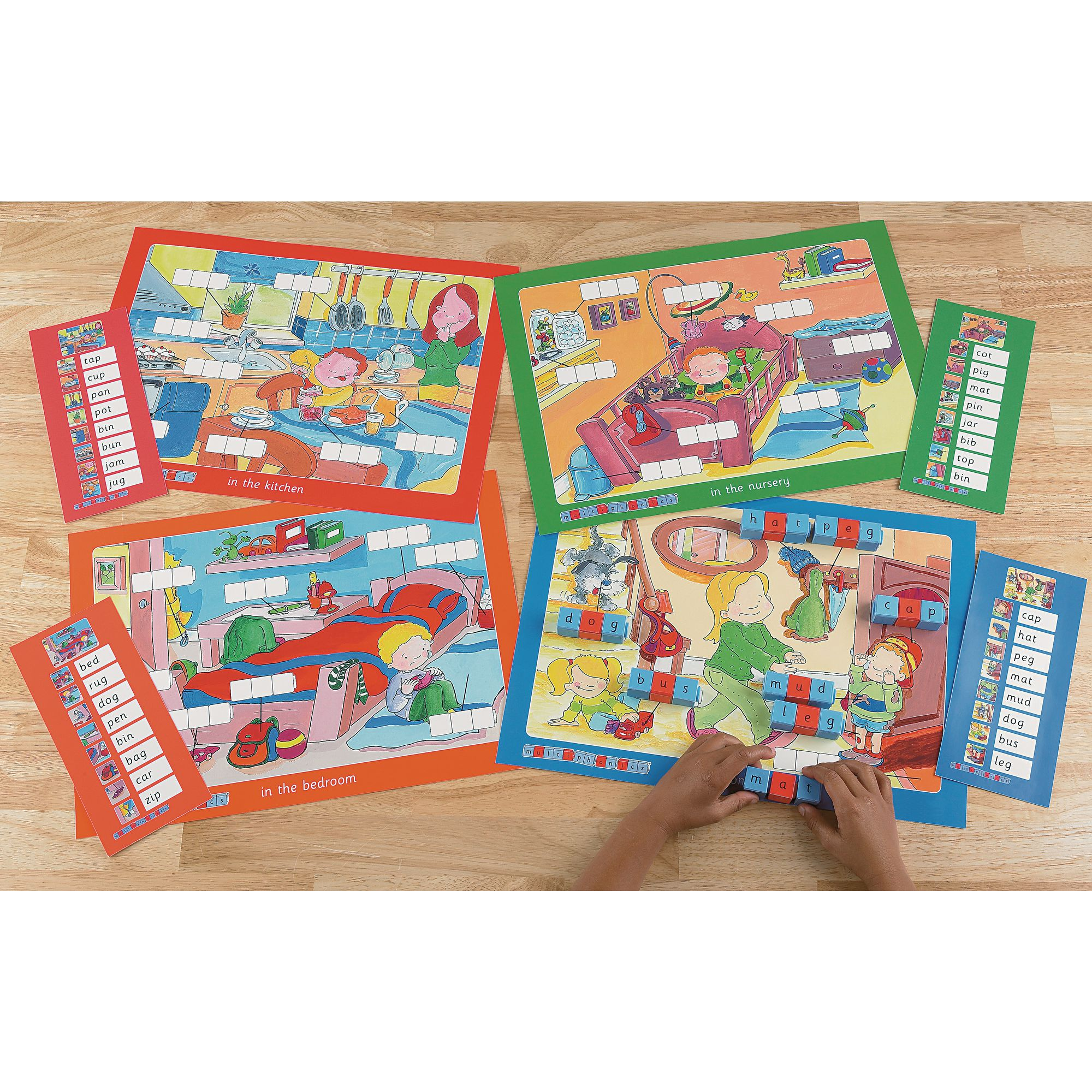 Cvc Word Building Mats Set 1 In The Home