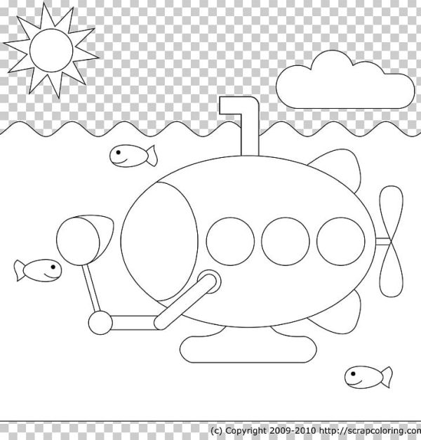 submarine coloring pages # 44