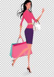 Woman Shopping PNG Clipart Adobe Illustrator Coffee Shop Encapsulated Postscript Fashion Fashion Design Free PNG Download