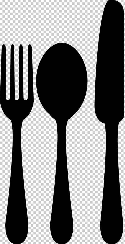 small resolution of spoon fork knife png clipart black and white cartoon cutlery drawing fork free png download