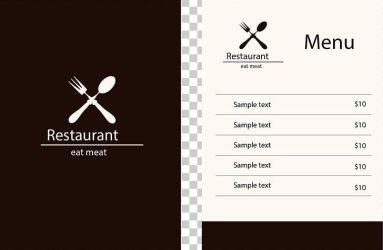 Restaurant Menu PNG Clipart Brand Designer Download Euclidean Vector Food Menu Free PNG Download