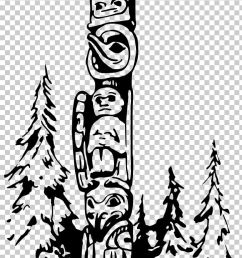totem pole png clipart art black and white color coloring book drawing free png download [ 728 x 1971 Pixel ]