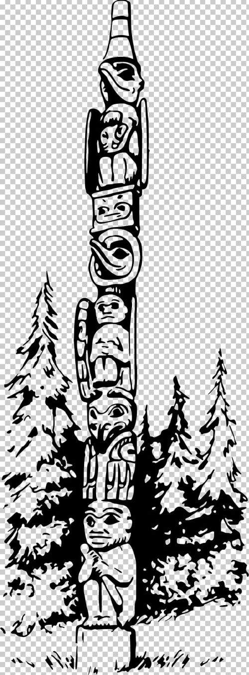 small resolution of totem pole png clipart art black and white color coloring book drawing free png download