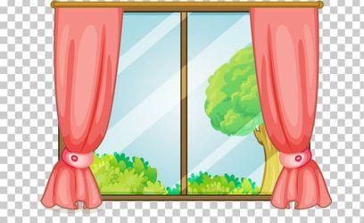 window curtain cartoon clipart windows glass eyes imgbin