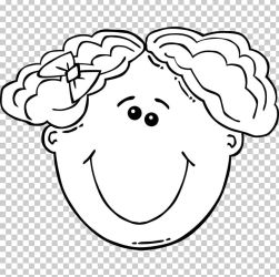 Girl Face Woman PNG Clipart Black Black And White Cartoon Child Circle Free PNG Download