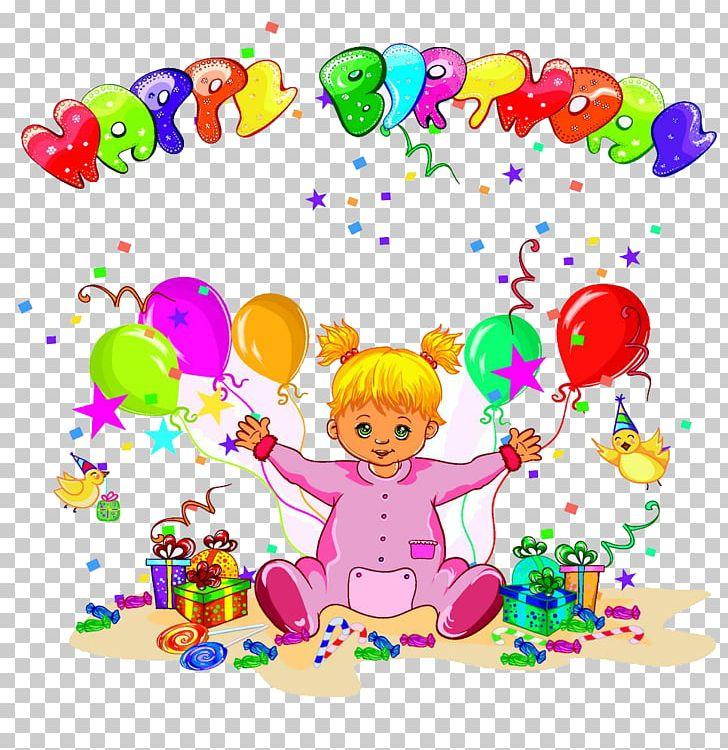 birthday illustration background design