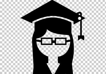 Graduation Ceremony College Student University Computer Icons PNG Clipart Academic Degree Black Black And White College