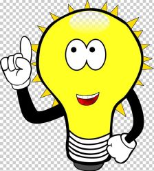 Incandescent Light Bulb Cartoon PNG Clipart Black And White Cartoon Compact Fluorescent Lamp Drawing Emoticon Free