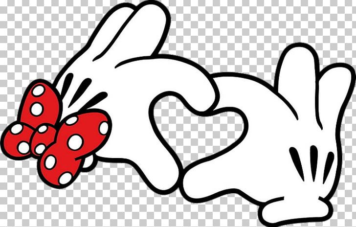 Download Mickey Mouse Minnie Mouse Hand Heart T-shirt PNG, Clipart ...
