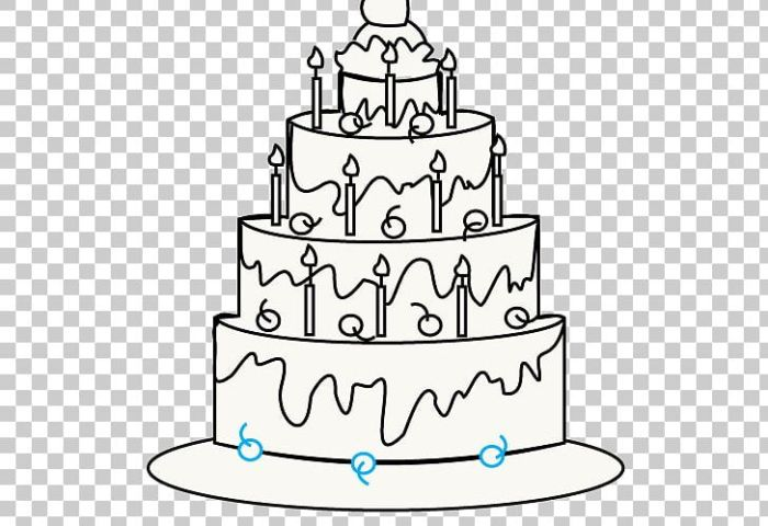 Birthday Cake Wedding Cake Drawing Cupcake Png Clipart Area Art