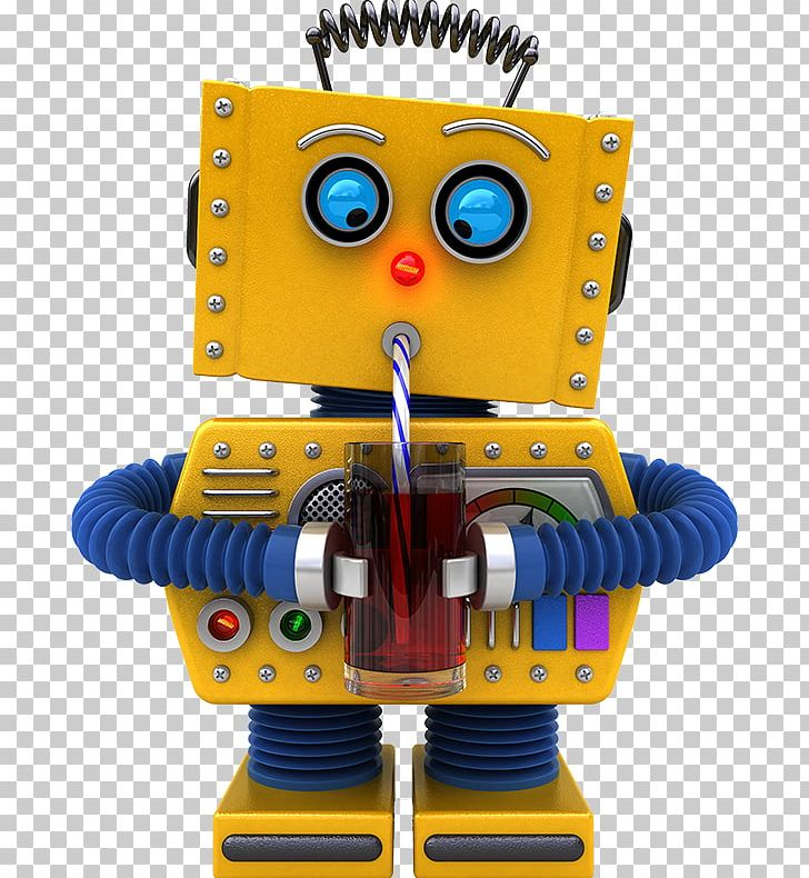 stock photography robot drink