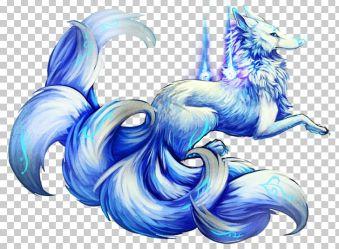 Nine tailed Fox Gumiho Arctic Fox Kitsune PNG Clipart Animals Anime Wolf Arctic Fox Art Demon